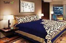 HomeStore-YEP Chennile Bedsheet with 2 Pillow Covers For Double Bed Size 90x100 Inches