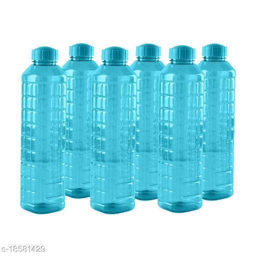 Saura Esquare Fridge Bottle 1000 ml Set of 6 Blue