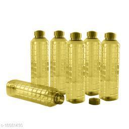 Saura Esquare Fridge Bottle 1000 ml Set of 6 Green