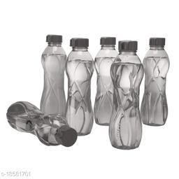 Saura ORRA Fridge Bottle 1000 ml Set of 6 Smoke Black