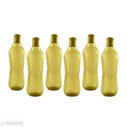 Saura Aqua Fridge Bottle 1000 ml Set of 6 Green