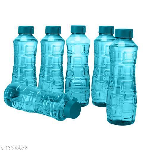Saura Bliss Fridge Bottle 1000 ml Set of 6 Blue
