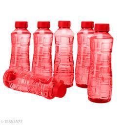 Saura Bliss Fridge Bottle 1000 ml Set of 6 Red