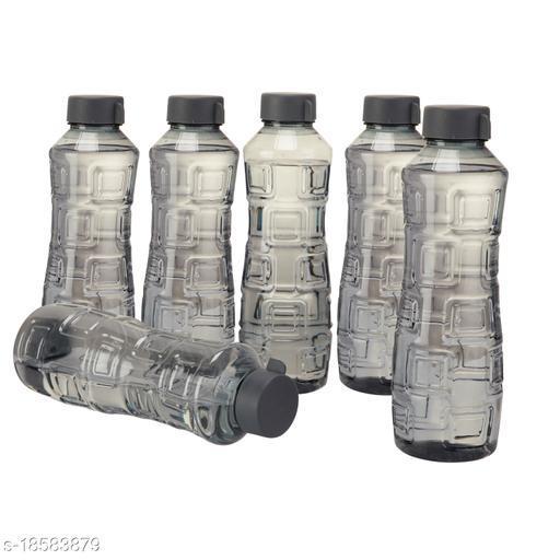 Saura Bliss Fridge Bottle 1000 ml Set of 6 Smoke Black