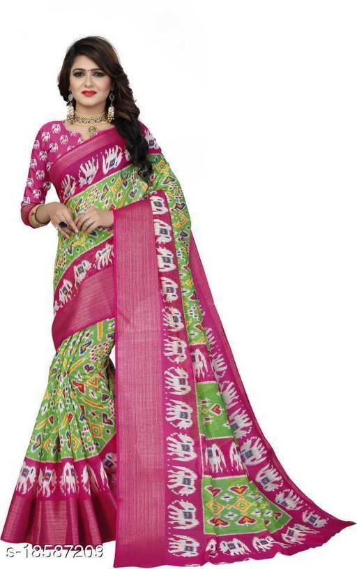 SATTVA Pochampally Cotton Patola Saree