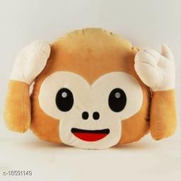 Decorative 1 Pack Moneky Pillows (Hear No)