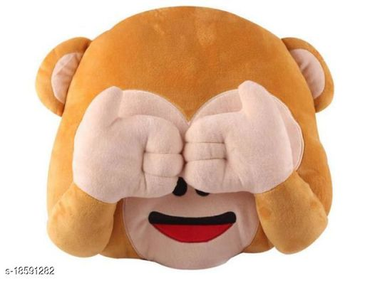 Decorative 1 Pack Moneky Pillows (See No)
