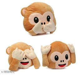 Decorative 3 Pack of Moneky Pillows for Car/Brithday Gift/and Home furnishing