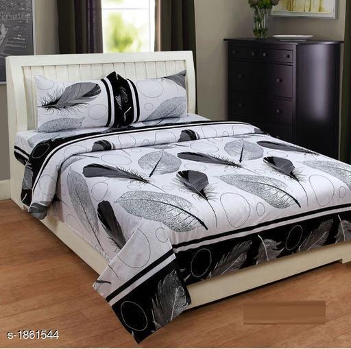 Cozy Microfiber Printed Double Bedsheet