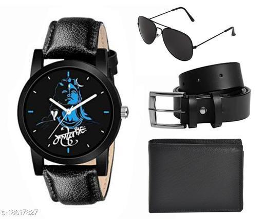 Combo of watch sunglass, Belt and purse