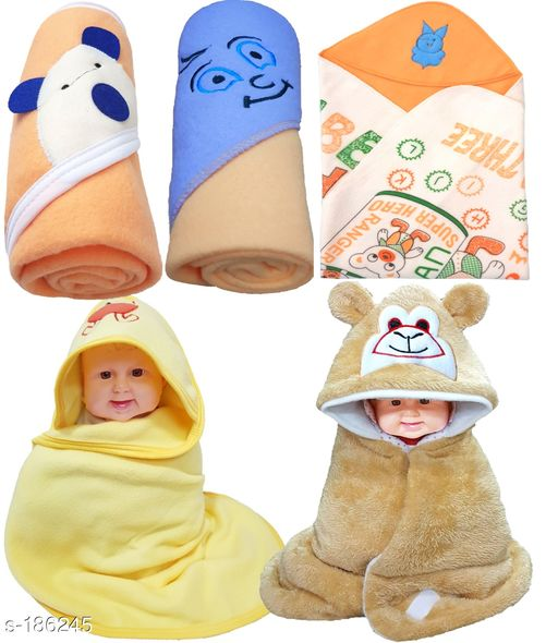 Adorable Hooded Baby Blankets