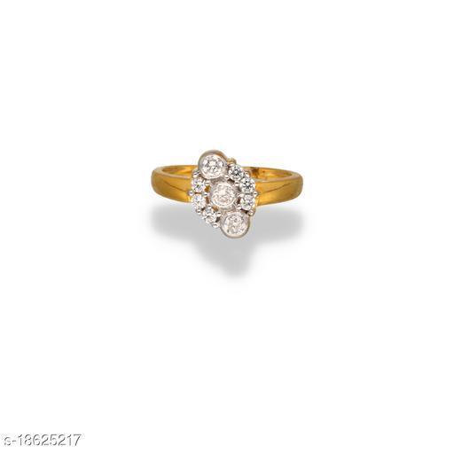 Aditya Jewellers 18k gold plated cubic zirconia stylish rings for women & girls
