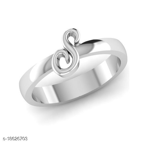 Sterling Silver Alphabet beautiful ring for girls and women
