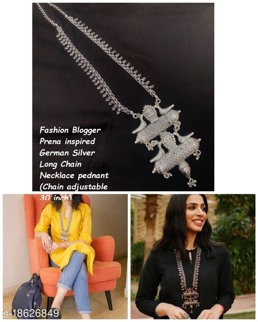 German Silver Kolhapuri chain Prena Chabara Inspired necklace for girls and women