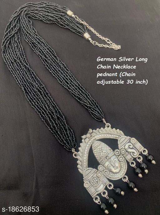 German Silver Poth mala God Balaji Pendant for womena & girls