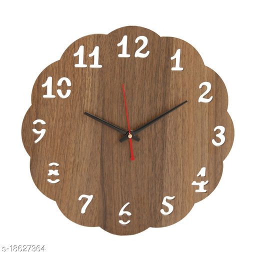 Wooden Round Home Fancy Big Size Latest Antique Design Ticking Movement Wall Clock for Kitchen/Living Room/Office