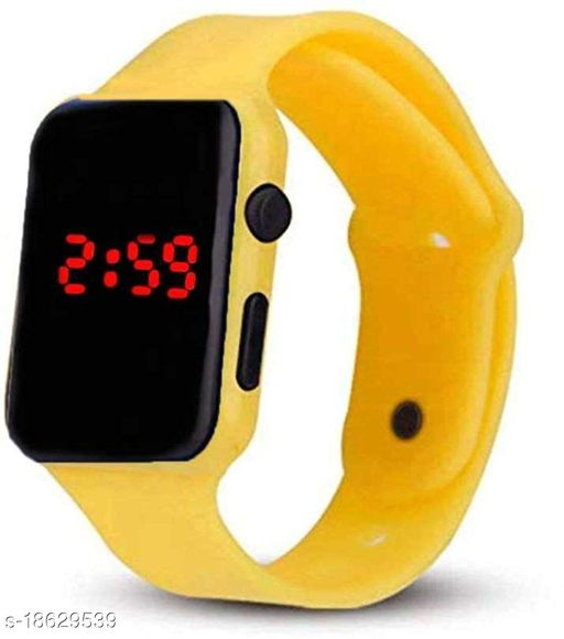 LED Smartwatch Look/Style Digital Sports watch with Date(Yellow)