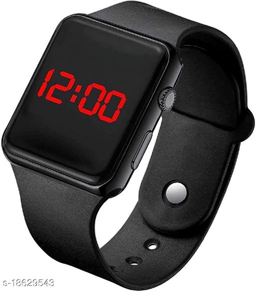LED Smartwatch Look/Style Digital Sports watch with Date(Black)