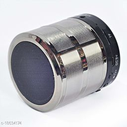 B. R. Trading Mini Bluetooth Speaker WS 887 with FM Radio, Memory Card Slot, USB Pen Drive Slot, AUX Input Mode (Silver)