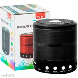 B. R. Trading Bluetooth Wireless WS 887-BT Stereo Speaker Desktop Portable Speakers with FM Radio Mic Micro SD Memory Card Slot, AUX for All Smartphones