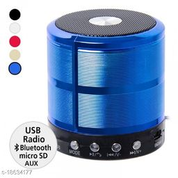 B. R. Trading WS-887 Multifunction Mini Bluetooth Wireless Speaker with Mic (Assorted)