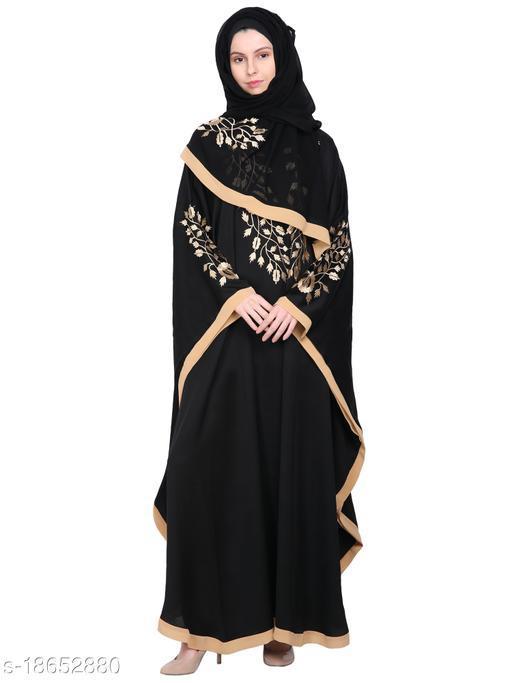 omen's Imported Soft Nida Fabric Embroidery Abaya with Dupatta.