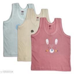 Baby Printed Inner Wear Baniyan Baby Vest for Unisex Baby Cotton