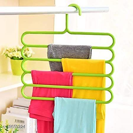 Pack of 3 Multipurpose Hanger Clothes Organizer for Wardrobe, Shirts, Ties, Pants Space Saving Hanger, Cupboard, Strong