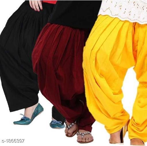 Trendy Cotton Women's Salwar (Pack Of 3 )