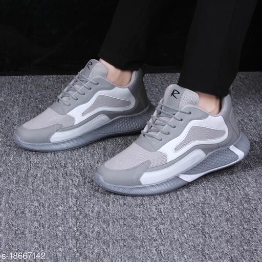 Stylish Men's Grey Sports Shoes
