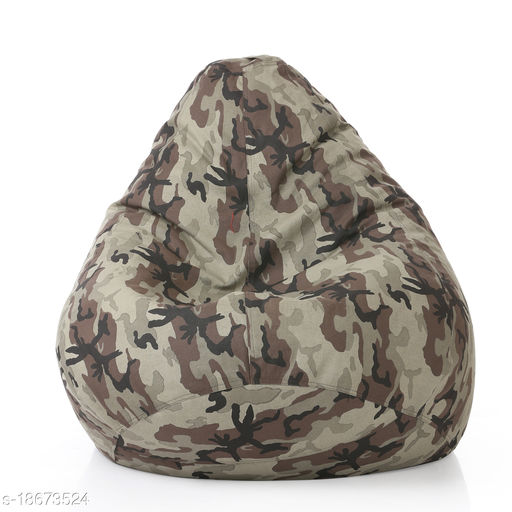 Style Homez Classic Cotton Canvas Camouflage Printed Bean Bag XXL Size Cover Only