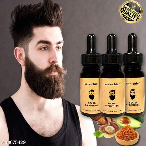 MasterChief Premium Beard Growth oil Pack OF 3