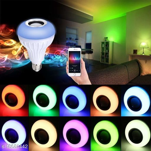 Color Changing LED BulbWith In-Built Bluetooth Speaker