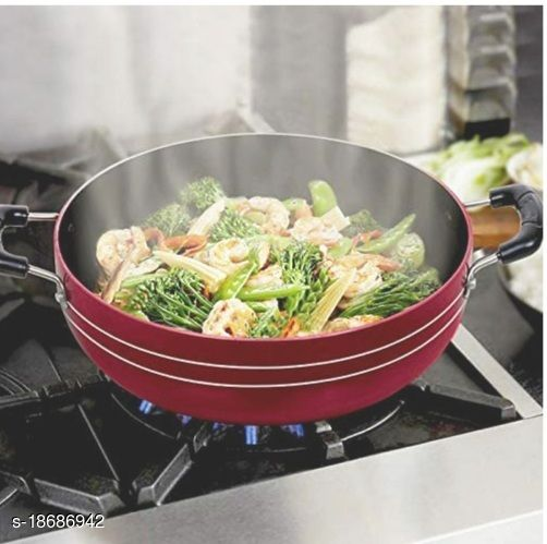 INNOVATIVE The Brandstore Non Stick Kadai with Stainless Steel Lid, 24 cm TOP BRAND