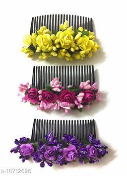 PINS N ROSE Premium Quality bridal hair styling flower comb