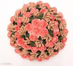 PINS N ROSE Women's Wedding Party Wear Artificial Flower Hair Bun Juda Gajra for Bride