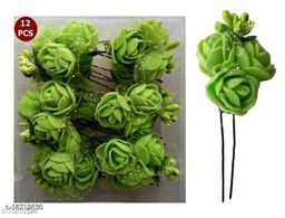 PINS N ROSE PlasticRose Flower Bun Juda Pin for Girls Women Fancy Metal Juda Pins