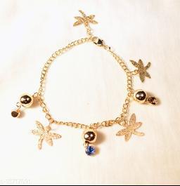 Stylish Women and Girls Gold-plated Bracelet Jewellery Set