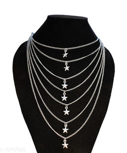 Trendy Layered Fashion Silver-plated Alloy Necklace