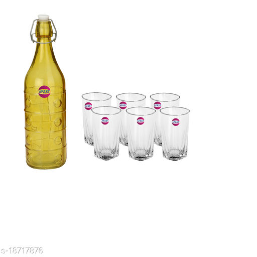 Trendy Bottle And Glass Set For Beverage WT24