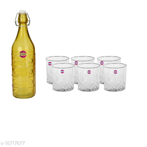 Trendy Bottle And Glass Set For Beverage WT19
