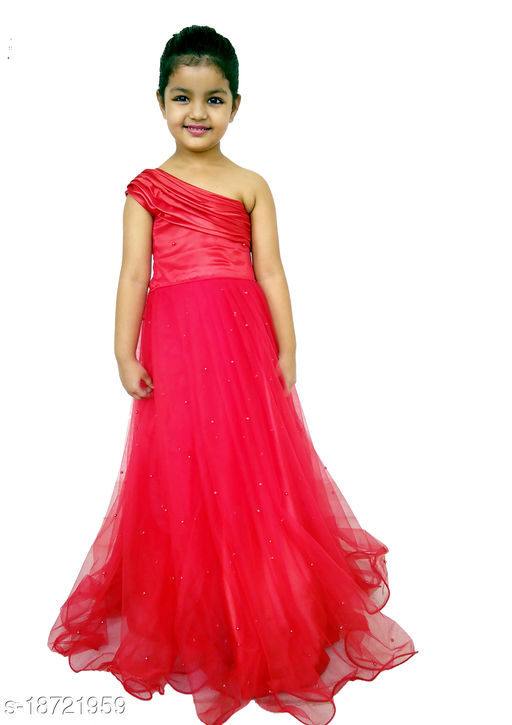 Tanvi Creations Flared/A-line Gown for Girls