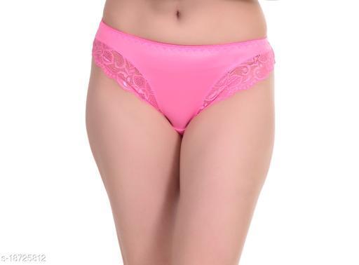 CloreMe Women's Lace Bikini Panty - Dark Pink