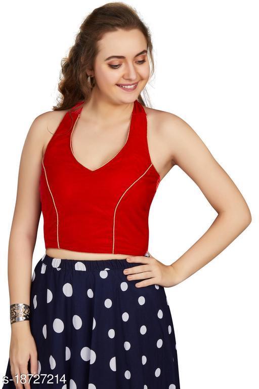 Aastha Womens Designer Velvet Blouse
