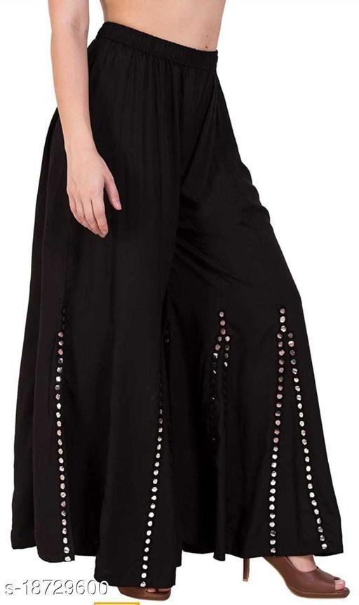 Emmy Word Fashionable Women Black Sharara /Garara /Trousers