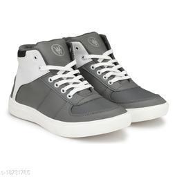 Stylish Men's Mesh Grey Casual Shoes
