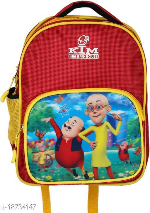 Kim Bag Red Polyester Stylish School Bag-Motu Patlu