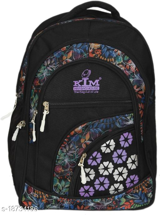 Kim Bag Purple Polyester Bagpack for Teenagers | Suitable for College and School