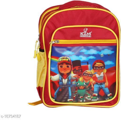 Kim Bag Red Polyester Waterproof School Bag