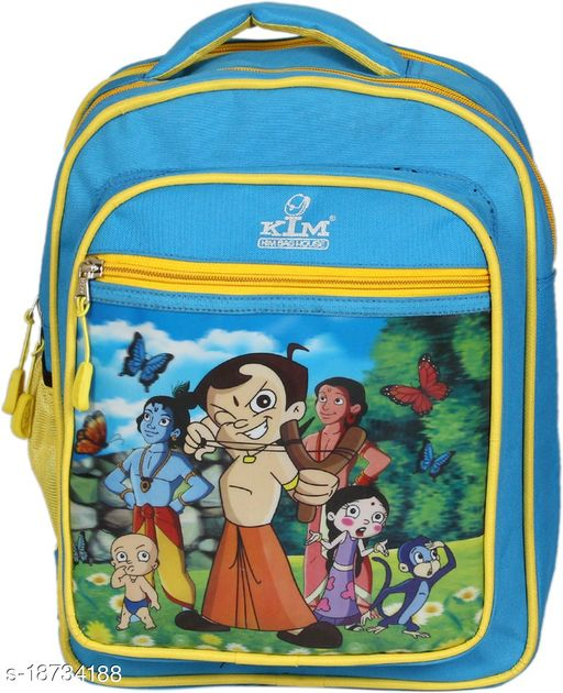 Kim Bag Blue Polyester Waterproof School Bag
